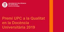 Acte de reconeixement a Miguel Valero pel Premi UPC a la Qualitat en la Docència Universitària