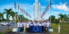 Alejandro Guerra, estudiant de l'EETAC, visita el Port Espacial Europeu amb la CVA Summer School