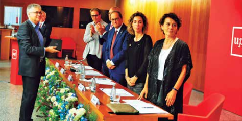 Entrevista al professor de l'EETAC, Miguel Valero, guardonat amb la distinció Jaume Vicens Vives