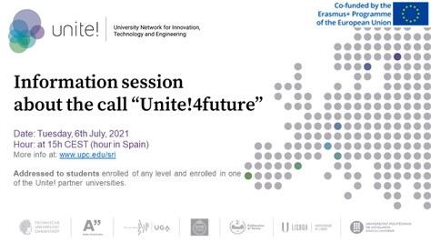 """Sessió informativa sobre la convocatòria Unite! de projectes d'estudiants """"Unite!4future"""""""