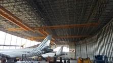 Visita dels alumnes del Grau en Enginyeria de Sistemes Aeroespacials a l'Hangar Iberia del Aeroport Barcelona El-Prat