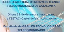 Xerrada professional de COETTC-ACETT per a estudiants d'últim curs de telecomunicacions
